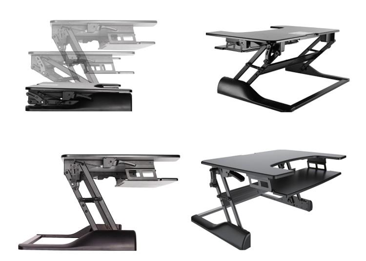 In hoogte verstelbare standaard transformeert je bureau naar een zit-sta oplossing, met de Ergo zit-sta oplossing van Ergonomique.