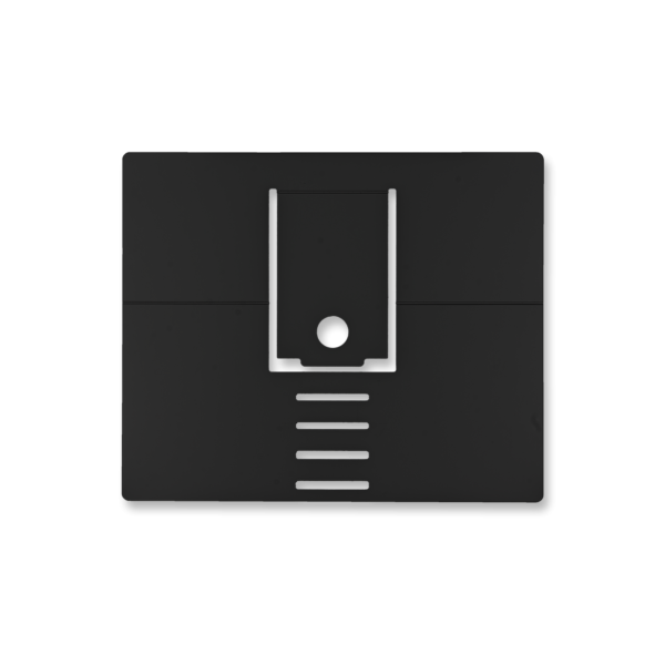 Ergonomische, zwarte laptopstandaard