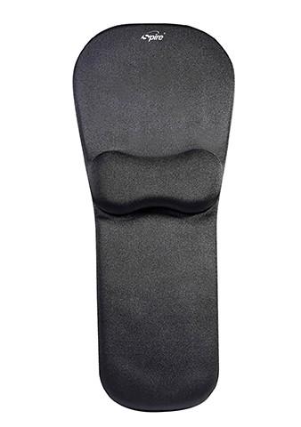 Zwarte, ergonomische muismat met polssteun van Spire