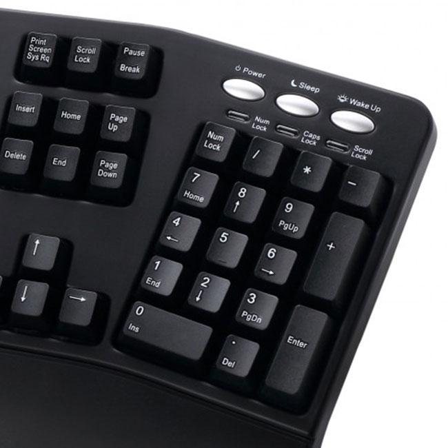 Nummeriek keypad van de Spire Curvature III ergonomisch toetsenbord