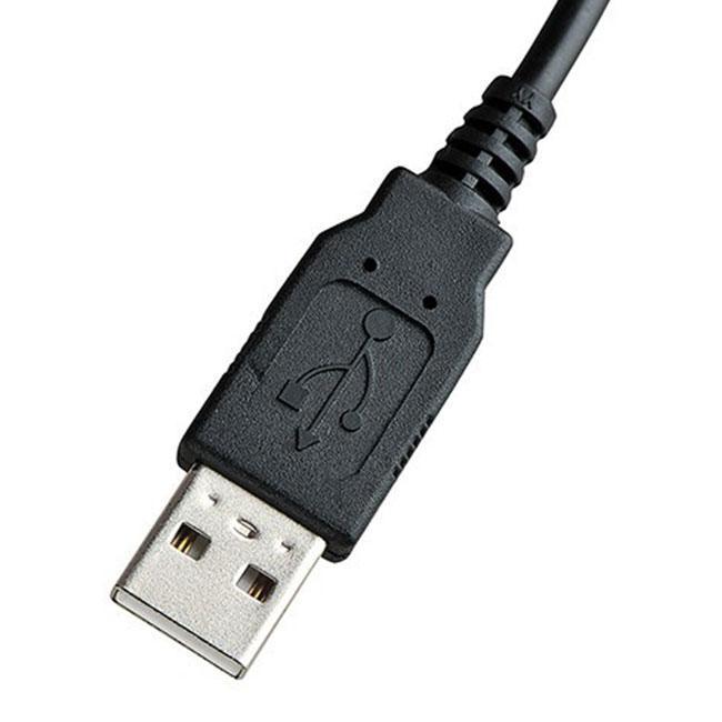 USB connector van de Spire Curvature III ergonomisch toetsenbord