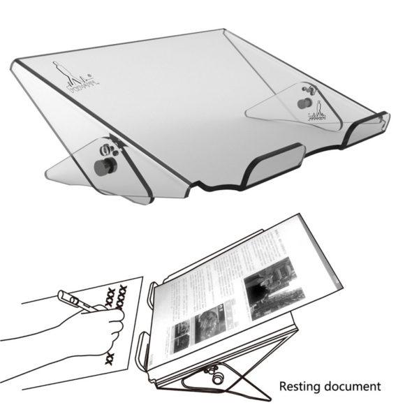 Verstelbare laptopstandaard van acryl, van Xymann