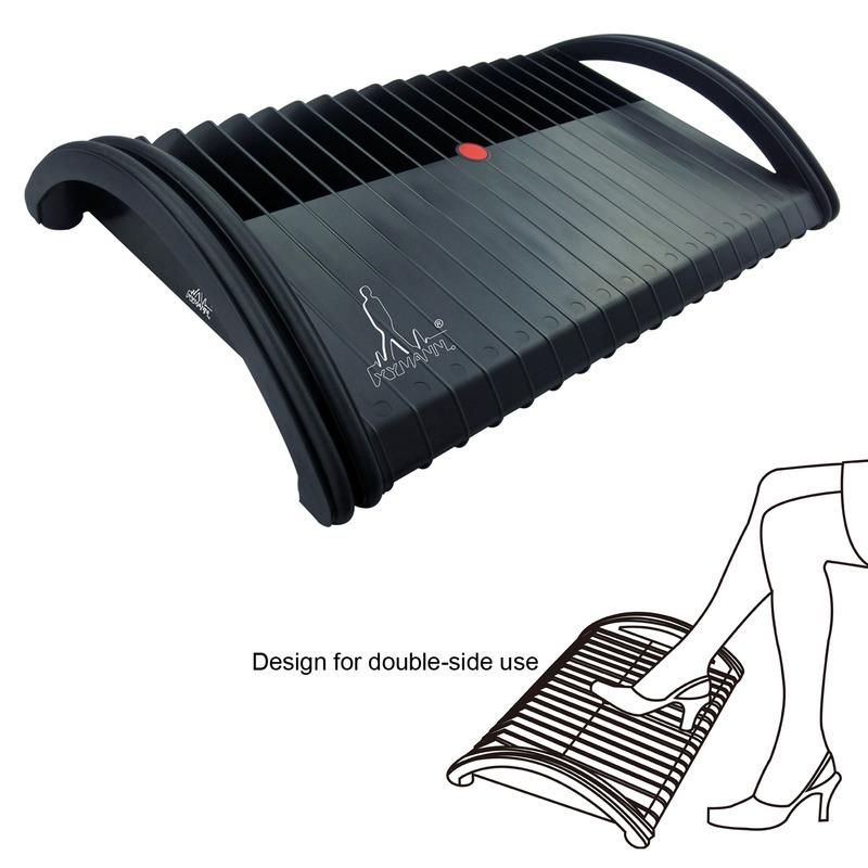 Zwarte, ergonomische voetensteun, de Xymann D