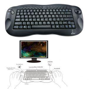 Ergonomisch compact toetsenbord met trackbal Ergo Specialist