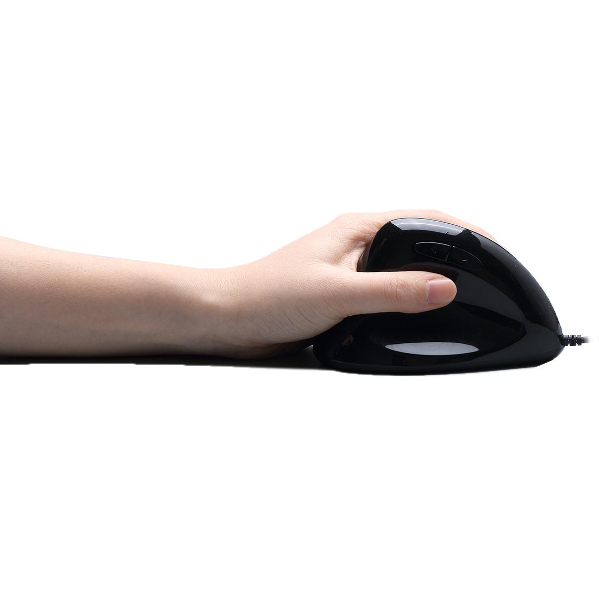 Linkshandige verticale ergonomische programmeerbare gamingmuis met instelbaar gewicht