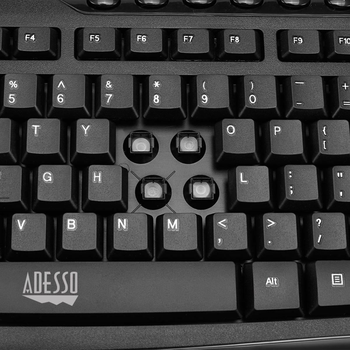 2,4 GHz draadloos bureaubladtoetsenbord en muiscombinatie